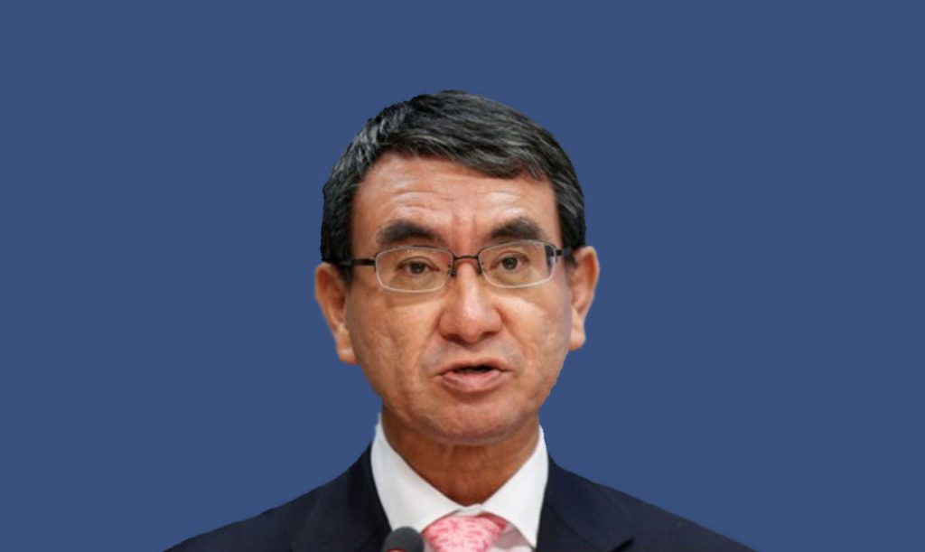 Foreign Minister Taro Kono warns UK on no-deal Brexit
